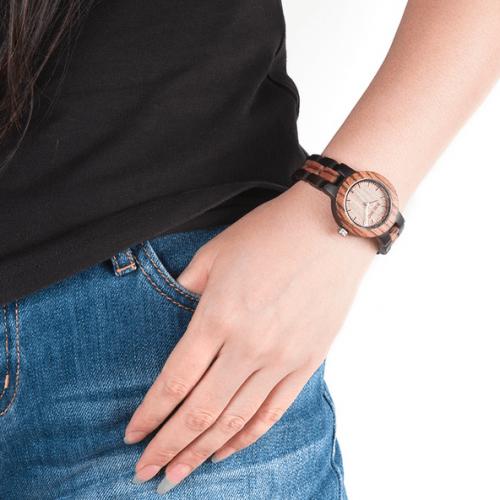 montre en bois, bracelet bois