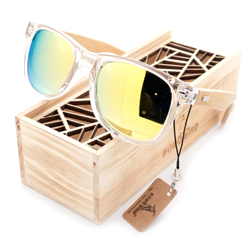 lunettes de soleil bois pas cher