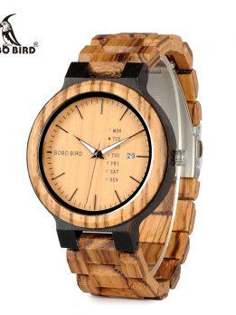 montre en bois homme de luxe