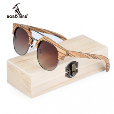 lunettes en bois zébré
