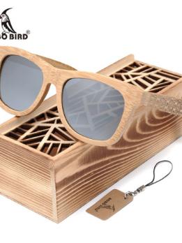 Lunettes en bois carré