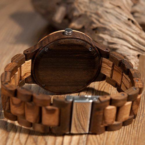 montre en bois homme audacieuse