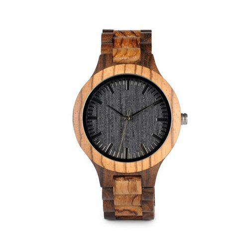 montre en bois homme