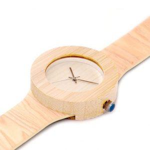 montre en bambou femme