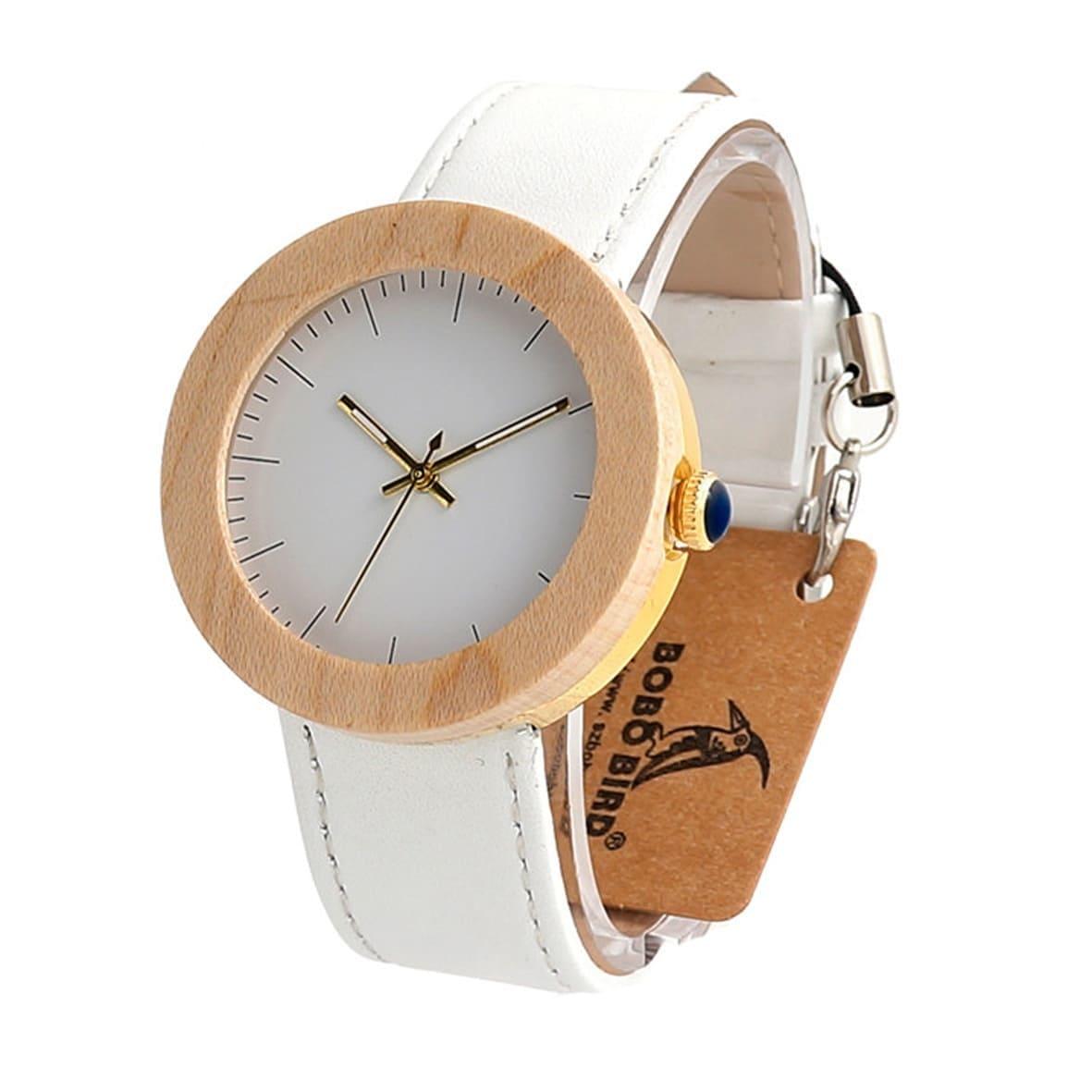 montre pour femme en bois