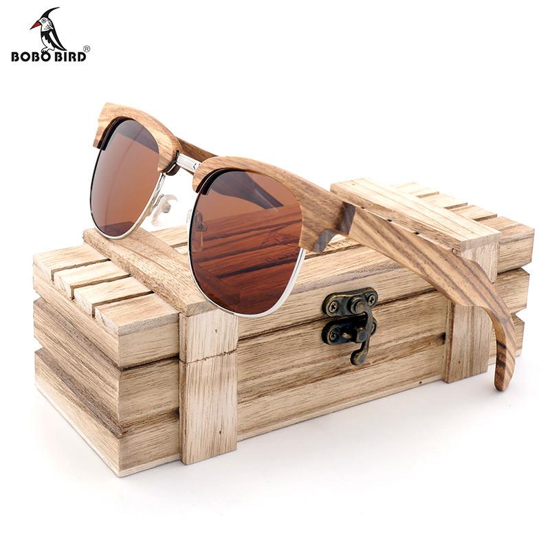 lunette de soleil en bois vintage