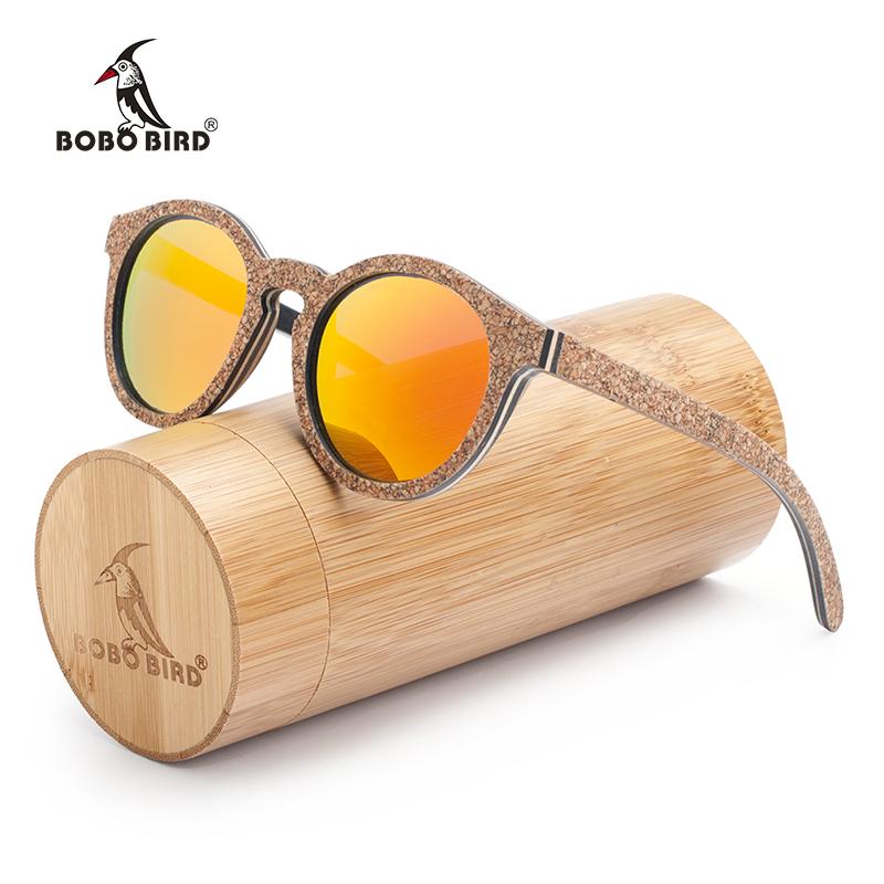 lunette de soleil en bois retro