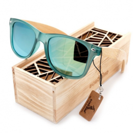 lunettes en bois de soleil