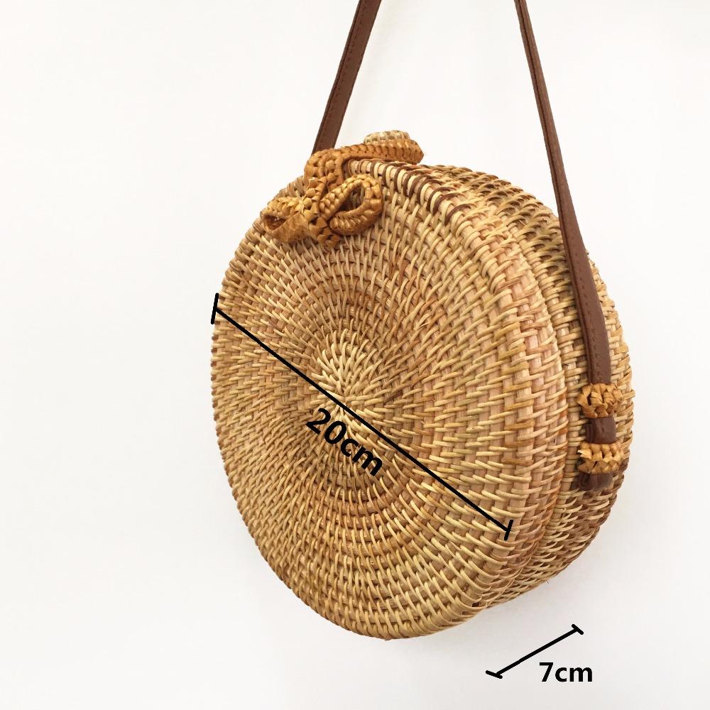 Para Beach Redondas Rattan Paule De T D Paja Mujeres Bag Bolsas qWtpg06wq