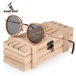 lunettes de soleil ronde en bois