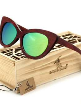 lunettes de soleil en bois papillon