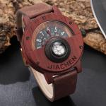 montre en bois boussole
