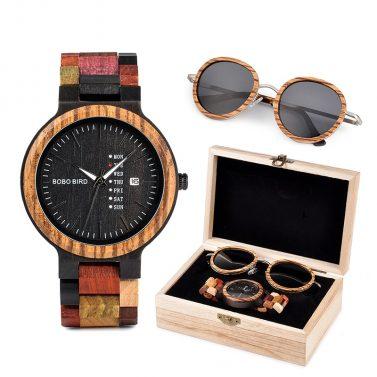 Coffret montre et lunette en bois Ryan