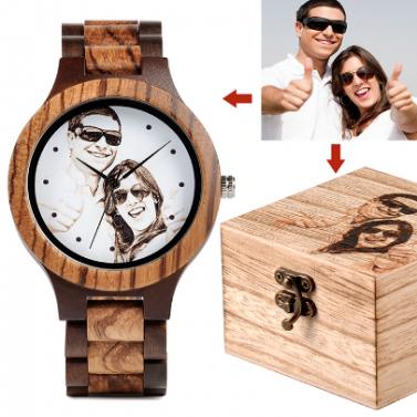 Montre en bois personnalisable