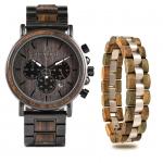 Coffret cadeau Montre en bois et bracelet