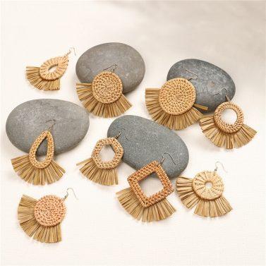 Boucles d'Oreilles Raphia